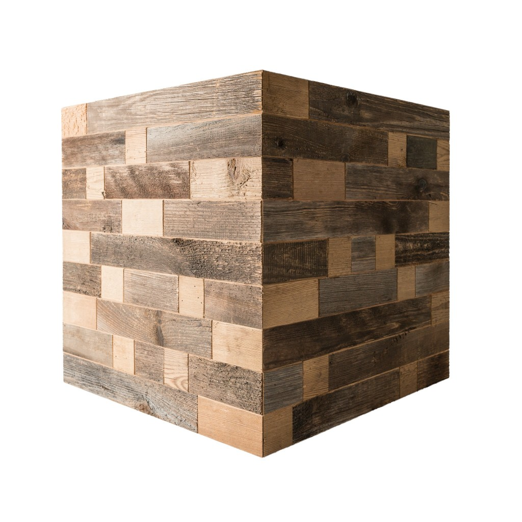 <p>Cube furniture meets contemporary design standards and performs a dual function: decoration and furniture. This cube is made up of strips of grey wood, which come from the external wall of the barns facing north and exposed to the unpredictability of the weather: wind and rain, which give it such as wondrous silver colour. The […]</p>